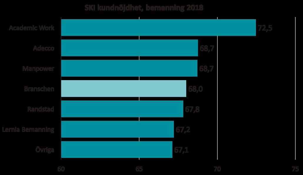 SKI kundnöjdhet Bemanningsbranschen 2018