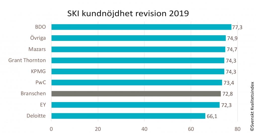 SKI kundnöjdhet Revisionsbranschen 2019